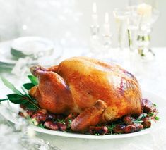 Roast turkey with sherry, pancetta, anchovy and rosemary stuffing recipe - Woman And Home Rosemary Recipes, Stuffing Recipes, Best Christmas Recipes, Christmas Ideas, Christmas 2017, Merry Christmas, Roast Turkey Recipes, Seasonal Food