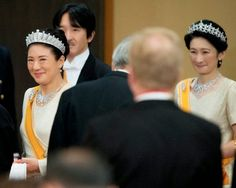 Japanese Crown Princess Masako (L-R), Prince Akishino and Princess Kiko attend a State Dinner for the Dutch King and Queen at the Imperial Palace in Tokyo, Japan, 29.10.2014.