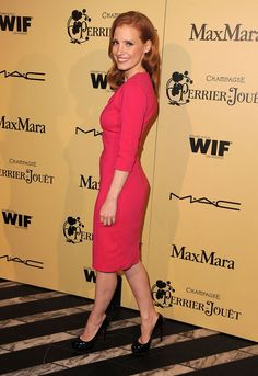 Jessica Chastain at the 2012 Annual Women in Film Pre-Oscar Party