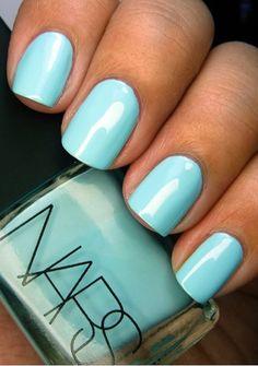 Light blue nails NARS