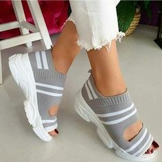 Open Toe Shoes, Open Toe Sandals, Wedge Sandals, Shoes Sandals, Women Sandals, Boho Sandals, Shoes Sneakers, Flat Shoes, Summer Sneakers