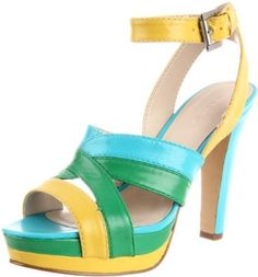 Nine West Womens Poolside Platform #Sandal [Price: 	$60.15 - $99.00 & FREE Shipping] - You certainly look refreshing in Nine West's Poolside sandal, but this cool look definitely turns up the heat with a 4.5-inch heel and 1-inch platform for a mouthwatering silhouette