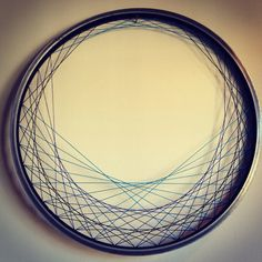 Recycled Bicycle Wheel Laced Wall Art  Blue and by LIFEbiCYCLE, $75.00