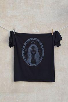 Unholy Girl t-shirt  White print on black t-shirt 100% cotton