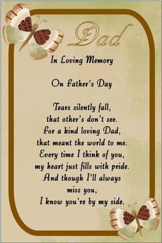 In Loving Memory/Card/Keepsake/Grave/DAD/ GRANDAD/ Fathers Day/ 3 SIZES .