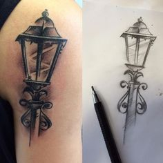 Street Lamp Tattoo #blackandgrey #blackandgreytattoo #instatattoo #tattoo #tattooartist @GoldenMachine @GoldenTattooStudio #tattooart #tatuagem #bestoftheday #inked #drawing #draw #streetlamp