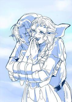Ocarina of Time - Link and Zelda The Legend Of Zelda, Legend Of Zelda Memes, Legend Of Zelda Breath, Link Zelda, Oot Link, Film Manga, Image Zelda, Princesa Peach, Ocarina Of Times