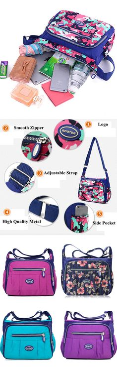 KE/_ Lady Colorful Shopping Pouch Flower Balloon Zipper Shoulder Cross Body Bag