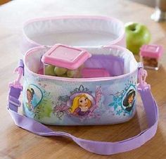 Kids Princess Lunch Bag Disney Character Insulated Wipe Clean Carry Handle Strap