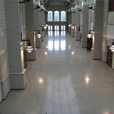 Charlotte, NC high school with polished concrete floors.