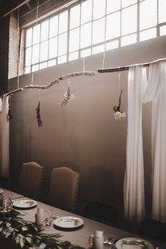 Hanging flowers add the perfect earthy vibe to your industrial wedding space Indoor Wedding Receptions, Inexpensive Wedding Venues, Wedding Reception Venues, Wedding Reception Decorations, Wedding Decor, Wedding Ideas, Industrial Wedding Venues, Neutral Wedding Colors, Minimal Wedding