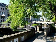 Passerelle entre la Place de la Comédie et la Rue des roches à Metz, Lorraine