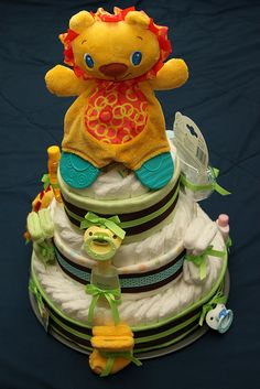 Another baby boy diaper cake