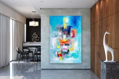 Items similar to Large Abstract Canvas Art,Extra Large Abstract Canvas Art,painting on canvas,modern abstract,extra large wall art on Etsy Large Abstract Wall Art, Large Painting, Texture Painting, Painting Art, Texture Art, Art Paintings, Abstract Paintings, Oversized Wall Art, Bright Paintings