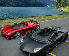 Koenigsegg × Lamborghini #carporn