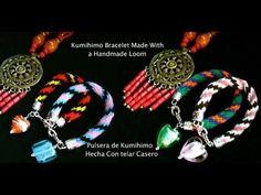 Kumimari 14: Special Bracelet Design with Handmade Kumihimo Loom/Pulsera...