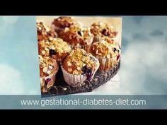 Banana & blueberry muffins - gestational diabetes recipe