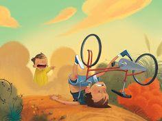 made by: Julia Sarda , illustration Children's Book Illustration, Character Illustration, Digital Illustration, Illustration Mignonne, Bike Art, Illustrations And Posters, Art Design, Cartoon Art, Illustrators