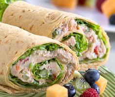 Tuna Flatout Wrap    206 Calories ● 25g Protein ● 24g Carbs ● 10.8g Fiber ● 5g Fat