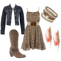 Country summer outfit needs real boots though