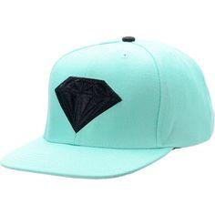 Diamond Supply Emblem Teal & Black Snapback Hat