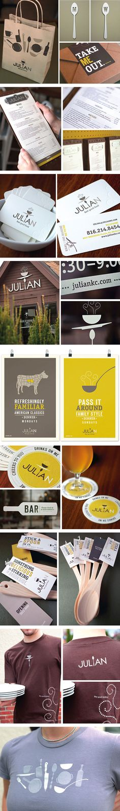 Julian #Restaurant Branding   good adaptation for collateral s