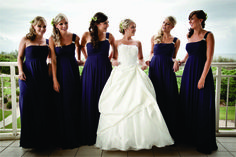 Purple bridesmaid dresses - True Bride
