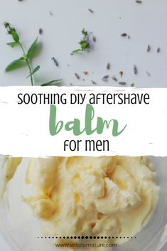Creamy and Soothing DIY Aftershave Balm for Men (sensitive skin) Learn how to make vegan DIY aftershave balm for men. Nourishing and soothing, this vegan aftershave for men is great for sensitive skin too! Homemade Skin Care, Diy Skin Care, Skin Care Tips, Organic Skin Care, Natural Skin Care, Natural Hair, Natural Beauty, Shaving Balm, Handmade Soaps