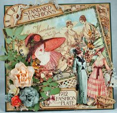 Killam Creative: 1912 Fashion Plate card @Graphic 45®
