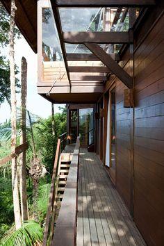 Balcony, Outstanding Sustainable Home in Praia do Felix, Brazil