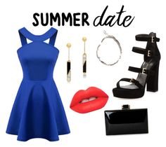 """""""Summer date outfit"""" by priyadrewmalleten ❤ liked on Polyvore featuring Stuart Weitzman, Edge of Ember, Lime Crime, Chicnova Fashion, summerdate and rooftopbar"""