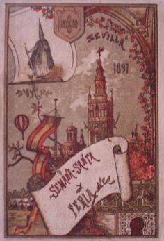 Cartel de Las Fiestas de Primavera de Sevilla 1897