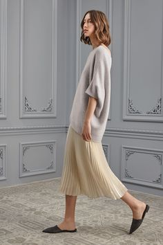 st. john resdybto wear fall 2017 collection. i adore the accordion skirt — curated by ajaedmond.com | capsule wardrobe | minimal chic | minimalist style | minimalist fashion | minimalist wardrobe | back to basics fashion