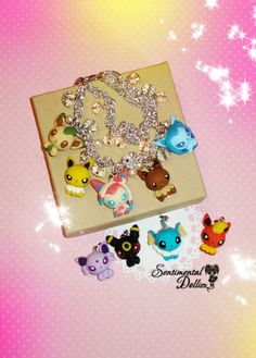 Pokemon, Eeveelution Jewelry, Pokemon Bracelet, Sylveon, Eevee, Pokemon, Flareon, Umbreon, Pokemon Jewellery, PICK 5 FORMS