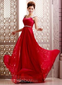 Courtlike A-Line Straps Pearls Beading Backless Court Train Floor-Length Evening Dress