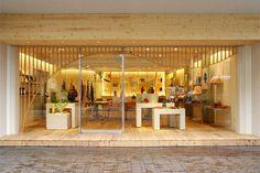 Kyoto Furoshiki store front - Karakusaya. Who wouldn't want to go in here???