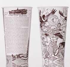 Chipotle food packaging with poems and essays from leading authors!