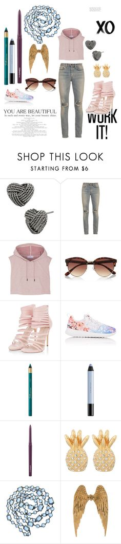 """Stylo"" by arianamilanwinter ❤ liked on Polyvore featuring Betsey Johnson, Yves Saint Laurent, adidas, River Island, NIKE, shu uemura, MAC Cosmetics, Lilly Pulitzer, Chanel and xO Design"
