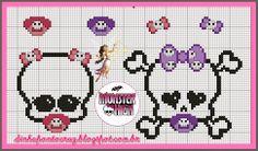 Dinha Ponto Cruz: Baby Monster High, gráfico e monograma!