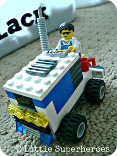 Hockey is back. Create this Lego Zamboni.  I know some one who could make this for their Papa
