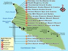 Tourist map of Aruba Aruba tourist map Travel Pinterest