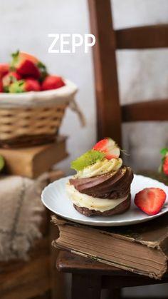 Italian Desserts, Mini Desserts, Biscotti, Red Velvet Cheesecake, Kili, Cannoli, Dolce, Food Videos, Nutella