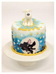 <3 snowy! :::: tintin • Tintin gateaux • Tintin cake
