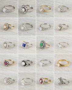 ohh la la vintage engagement rings galore