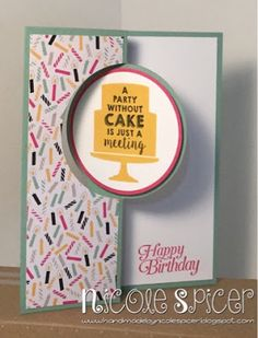 Addicted to CAS Challenge 30 Stampin' Up! Nicole Spicer It's My Party Party Wishes Sky Is the Limit 2016 Occasions Catalogue Sale-a-bration 2016