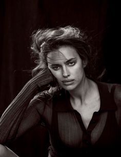 Irina Shayk by Peter Lindbergh for Vogue Germany May 2017