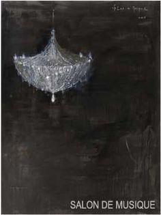 Salon de Musique - Piero Pizzi Cannella...on  a chalkboard?