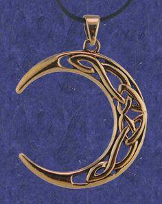 Celtic moon tattoo design by bannigan artworks tattoo inspiration bronze celtic moon pendant aloadofball Image collections