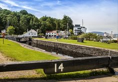 Lock 14 Crinan Canal, Scotland, with the Crinan Hotel in the background http://picture-gallery.alexsaundersphotography.co.uk/ http://alex-saunders.artistwebsites.com/index.html and http://photo4me.com/canvasprints/Alex-Saunders #water #photography #High Quality Prints #Scotland http://picture-gallery.alexsaundersphotography.co.uk
