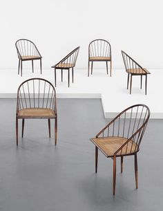 Joaquim Tenreiro, Set of six chairs, c. 1960 | PHILLIPS